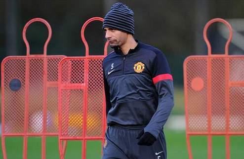Фердинанд вернулся к тренировкам