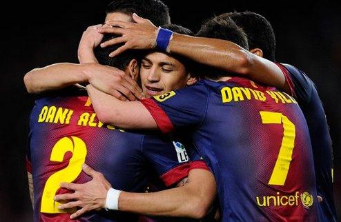 Барселона репетировала перед Миланом