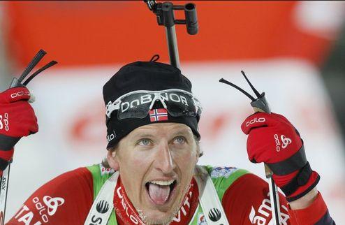 Биатлон. Бергер выиграл спринт на чемпионате Норвегии