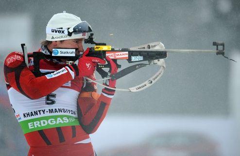 Биатлон. Бергер и Свендсен одержали победы на чемпионате Норвегии