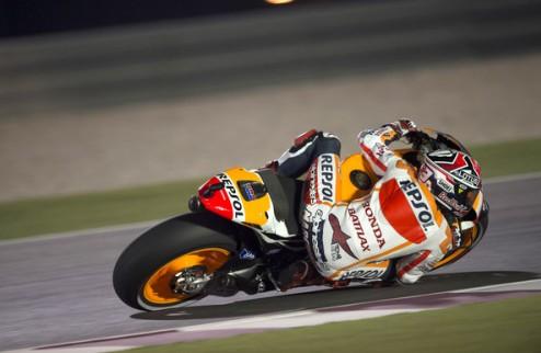 MotoGP. Гран-при Катара. Маркес выигрывает вторую практику