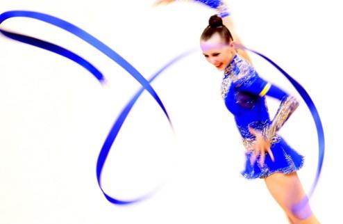 Художественная гимнастика. Подиум Ризатдиновой на этапе Кубка мира