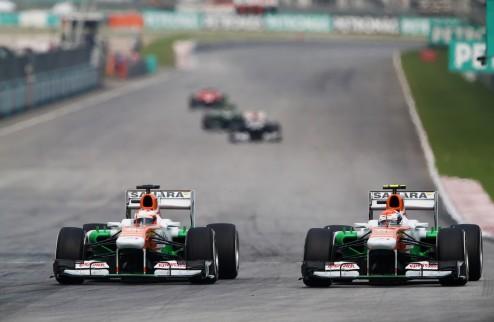 Формула-1. В Форс Индии недовольны инцидентом между Ди Рестой и Сутилем