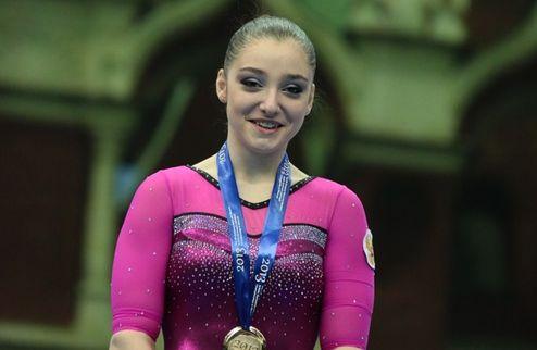 Спортивная гимнастика. Мустафина — двукратная чемпионка Европы