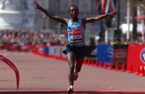 Кебеде и Джепту — триумфаторы марафона в Лондоне