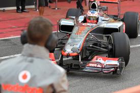 Формула-1. Макларен против тестов по ходу сезона