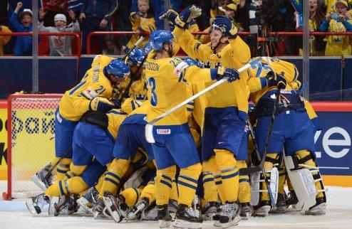 ЧМ. Швеция одолела Финляндию