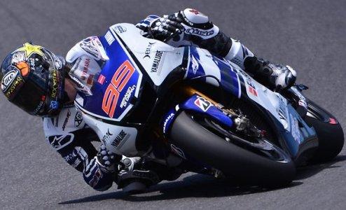 MotoGP. Гран-при Франции. Лоренсо выигрывает разогрев