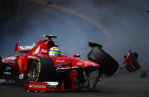 Формула-1. Массе снова повезло