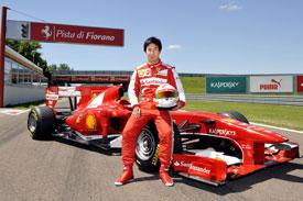 Формула-1. Кобаяси протестировал Феррари F10