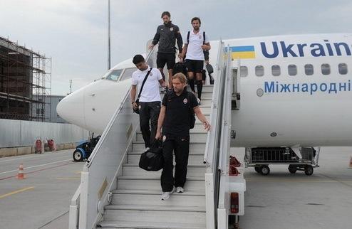 Шахтер прилетел в Киев в неполном составе