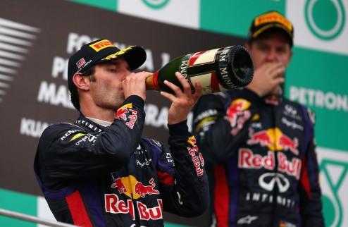 Формула-1. Феттель: Уэббер уходит не из-за того, что я забрал у него победу в Малайзии