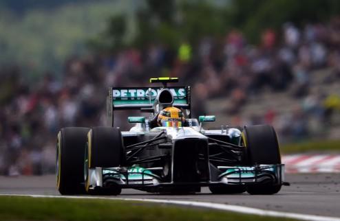 Формула-1. Гран-при Германии. Поул Хэмилтона, неудача Росберга