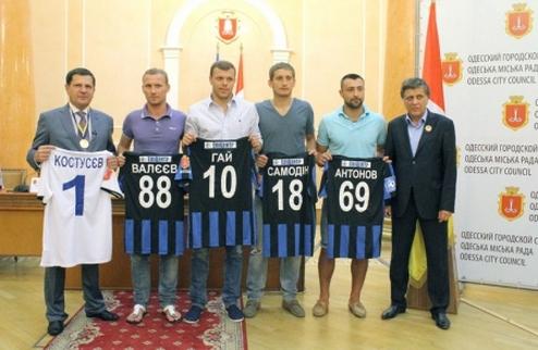 Черноморец представил новичков в мэрии