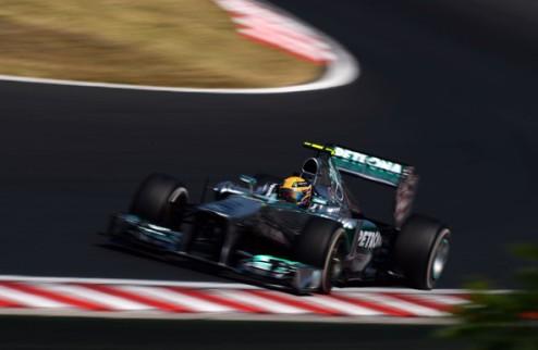 Формула-1. Гран-при Венгрии. Хэмилтон отбирает поул у Феттеля