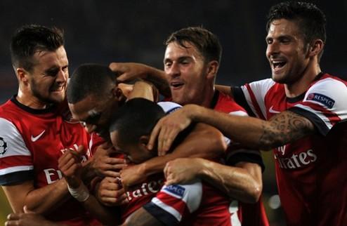 Арсенал без минуты в групповом этапе Лиги чемпионов