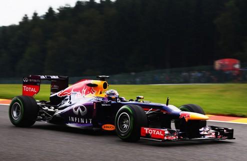 Формула-1. Гран-при Бельгии. Феттель выигрывает вторую практику