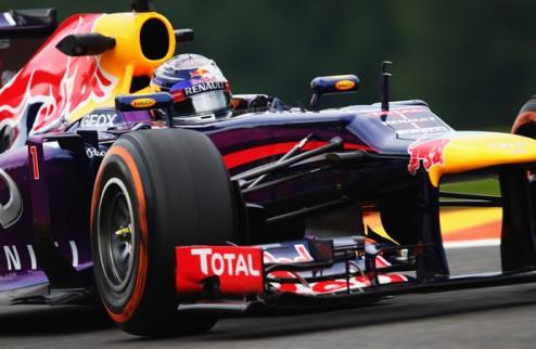 Формула-1. Гран-при Бельгии. Феттель выигрывает третью практику