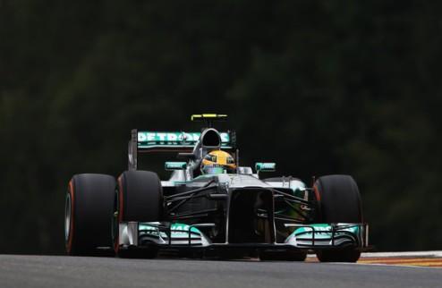Формула-1. Гран-при Бельгии. Дождевой поул Хэмилтона