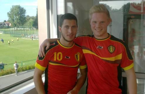 Сборная Бельгии и ее двойники. ВИДЕО
