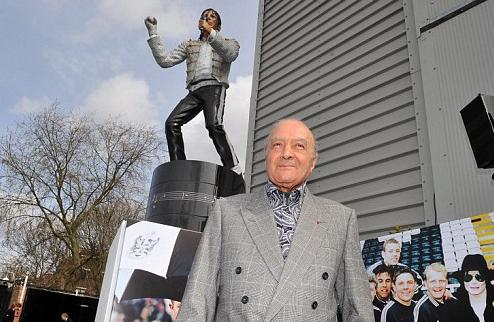 Статую Майкла Джексона около стадиона Фулхэма уберут