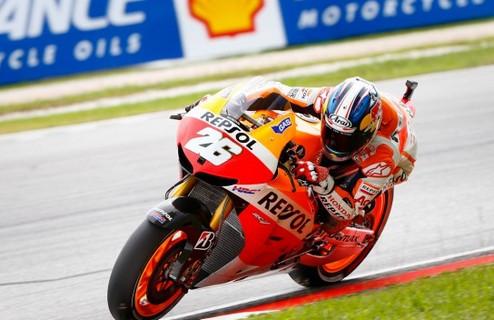 MotoGP. Гран-при Малайзии. Педроса на вершине, Маркес впереди Лоренсо