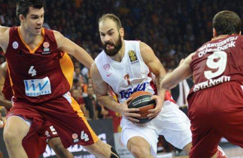 Евролига. Олимпиакос дожимает Галатасарай, Жальгирис уступает в Милане