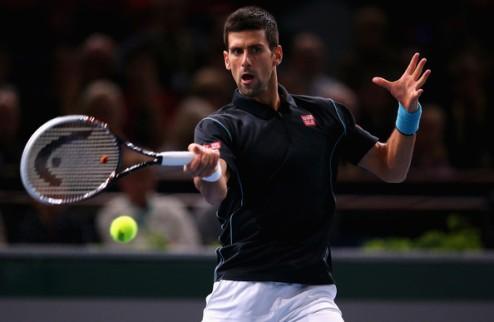 Париж (АТР). Джокович, Федерер и Надаль в полуфинале