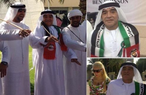 Марадона и Анри халтурят в ОАЭ. ФОТО + ВИДЕО