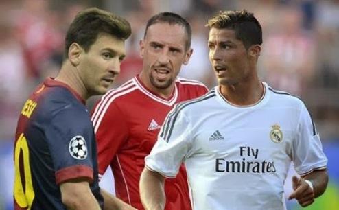 Месси, Роналду и Рибери — финалисты борьбы за Золотой мяч