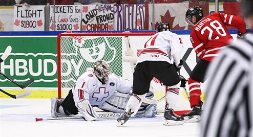МЧМ. Канада в четвертьфинале разбила Швейцарию
