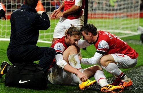 Арсенал: шесть недель без Бендтнера