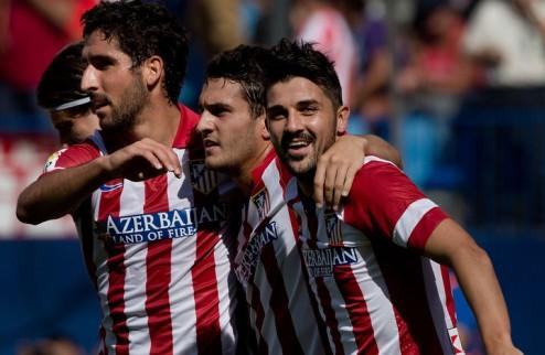 Атлетико перетерпел Малагу, Валенсия сильнее Леванте