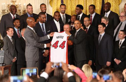 НБА. Майами посетил Белый дом. ВИДЕО