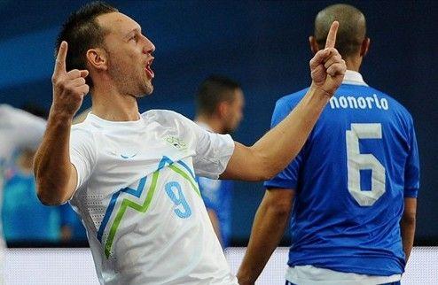 Футзал. Невероятно! Словения бьет Италию