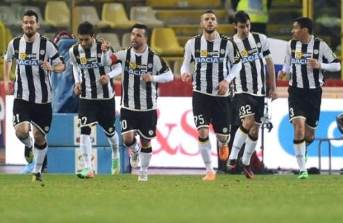Поражение Фиорентины, победа Удинезе, ничья Милана
