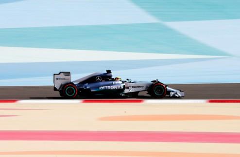 Формула-1. В Мерседесе довольны первом днем в Бахрейне