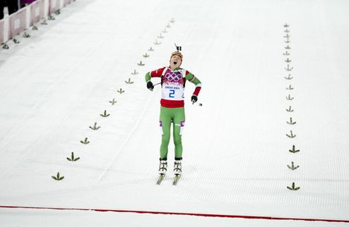Биатлон. Домрачева выиграла спринт в Осло