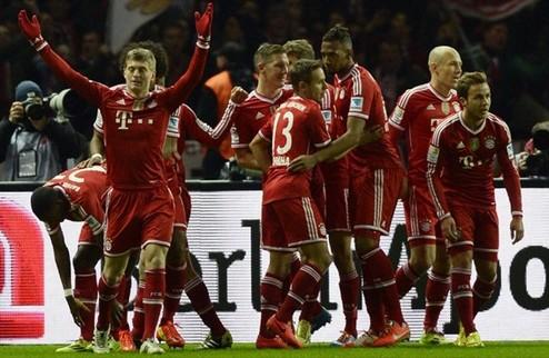 Бавария досрочно выиграла Бундеслигу
