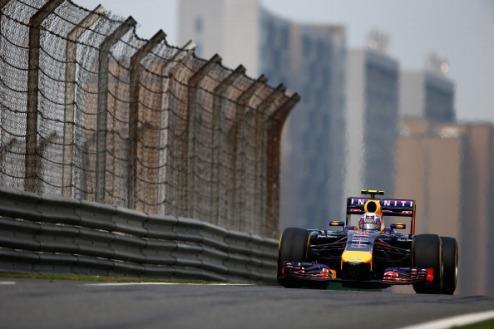 Формула-1. Гран-при Китая. Риккьярдо выигрывает дождевую тренировку