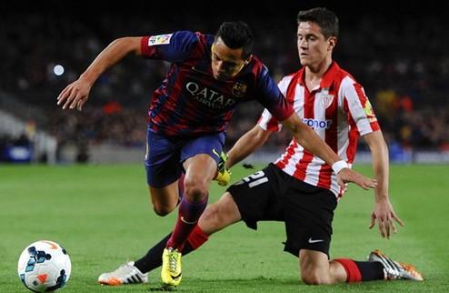 Барселона одолела Атлетик, Севилья приблизилась к четверке