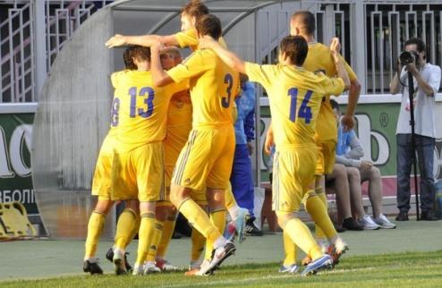 Молодежная сборная Украины бьет Латвию