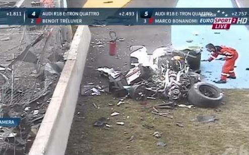 WEC. Дюваль попал в серьезную аварию в Ле-Мане