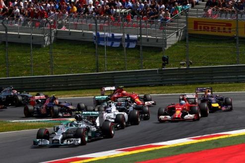 Формула-1. ГП Австрии. Росберг побеждает Хэмилтона, Боттас празднует подиум