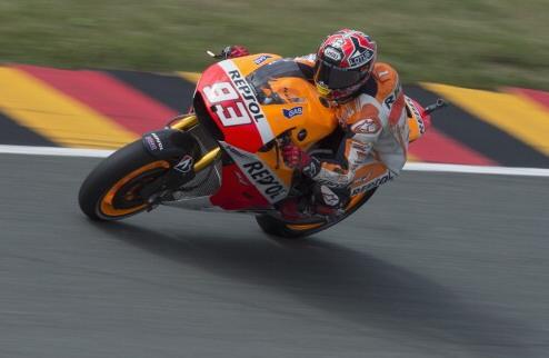 MotoGP. Гран-при Германии. Маркес отбирает поул у Педросы