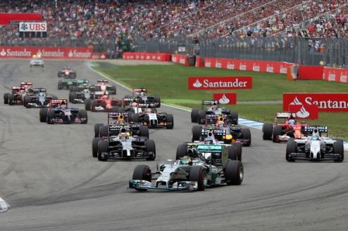 Формула-1. Росберг доминирует в Германии, Хэмилтон прорывается на подиум