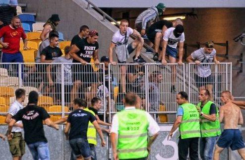 УЕФА начал расследовать проишествие на Олимпийском