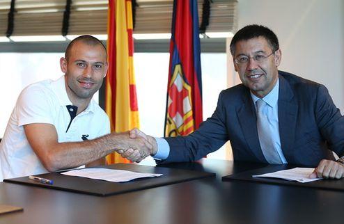 Официально: Маскерано продлил контракт с Барселоной