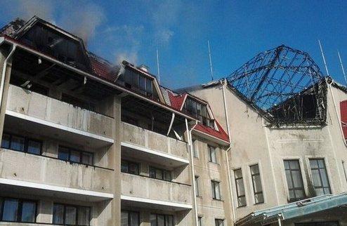 Главный корпус тренировочной базы Шахтера частично разрушен