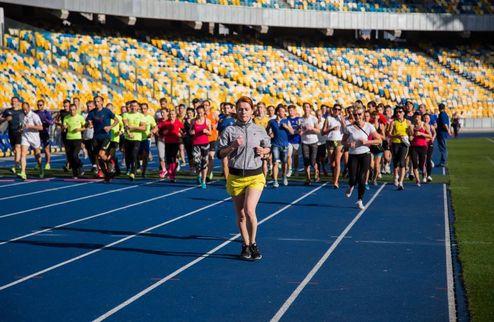 """Состоялась открытая тренировка Kyiv Half Marathon на НСК """"Олимпийский"""""""
